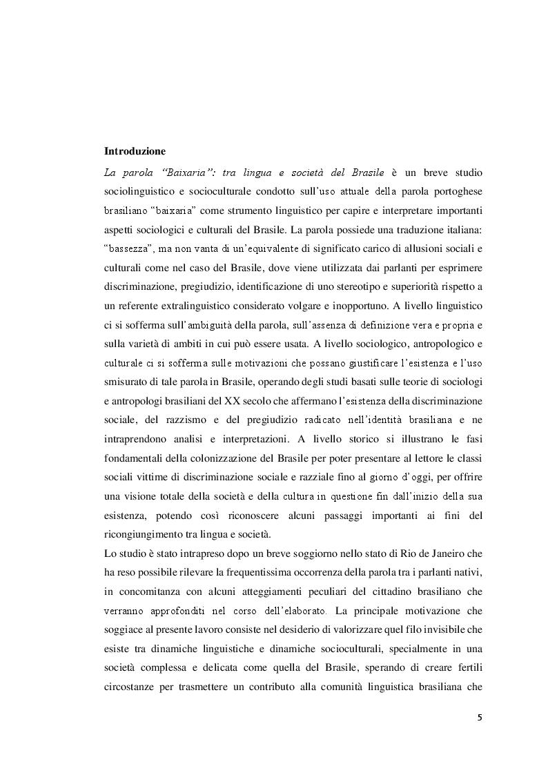 Anteprima della tesi: La parola ''Baixaria'': tra lingua e società del Brasile, Pagina 2