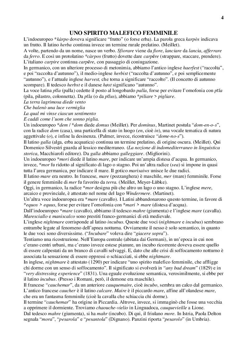 Anteprima della tesi: Latino e italiano attraverso i secoli, Pagina 4