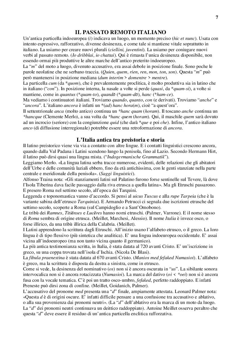 Anteprima della tesi: Latino e italiano attraverso i secoli, Pagina 7
