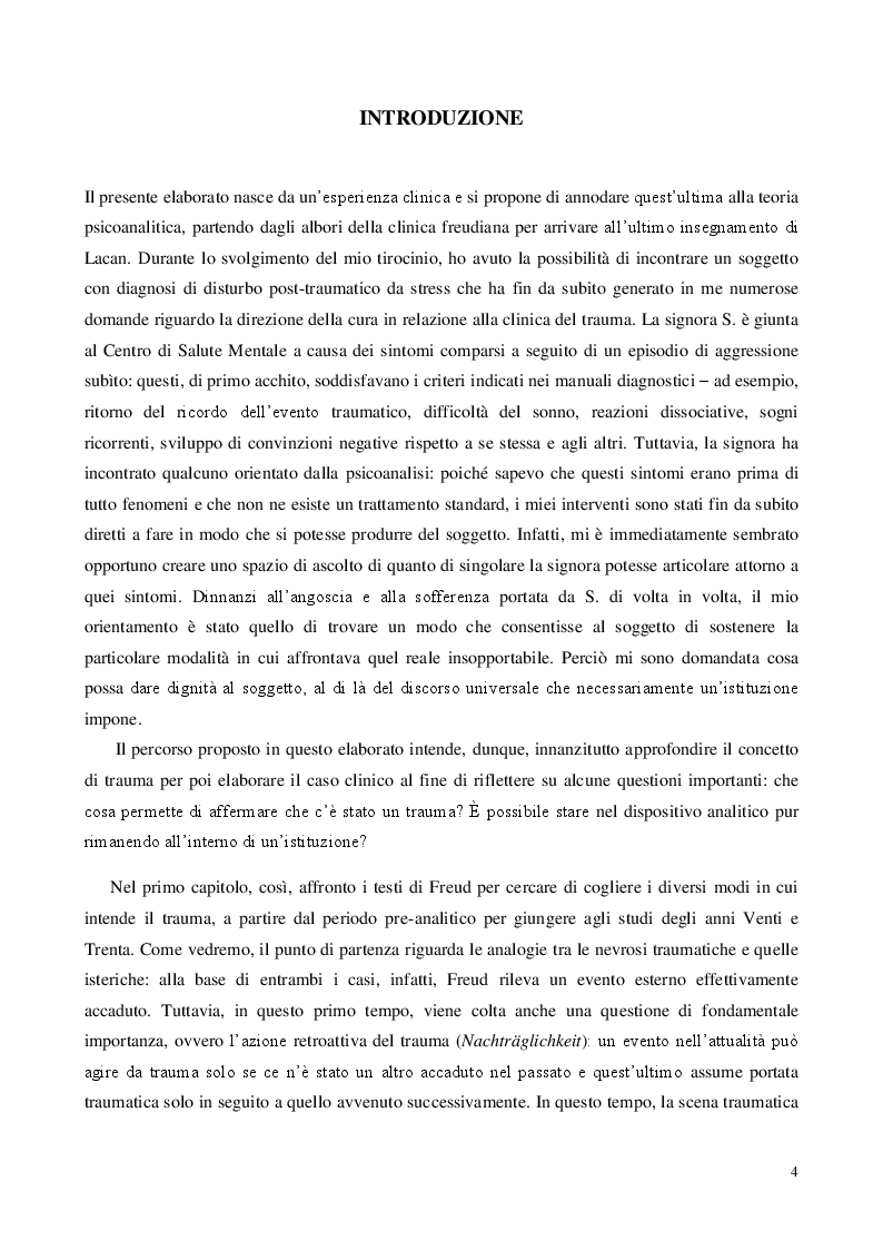 Anteprima della tesi: Traum(a), Pagina 2