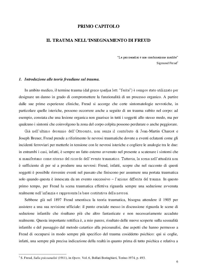 Anteprima della tesi: Traum(a), Pagina 4
