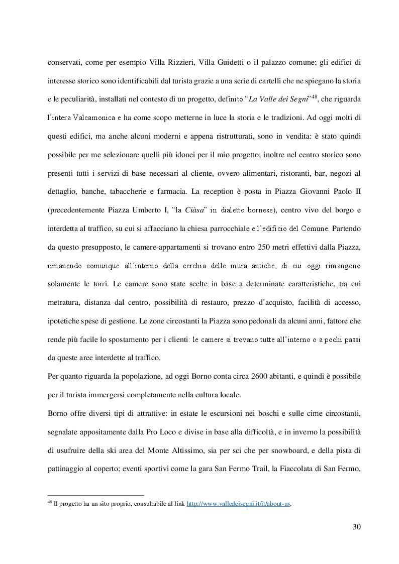 Anteprima della tesi: L'albergo diffuso e una specifica esperienza: la proposta di Borno, Pagina 4