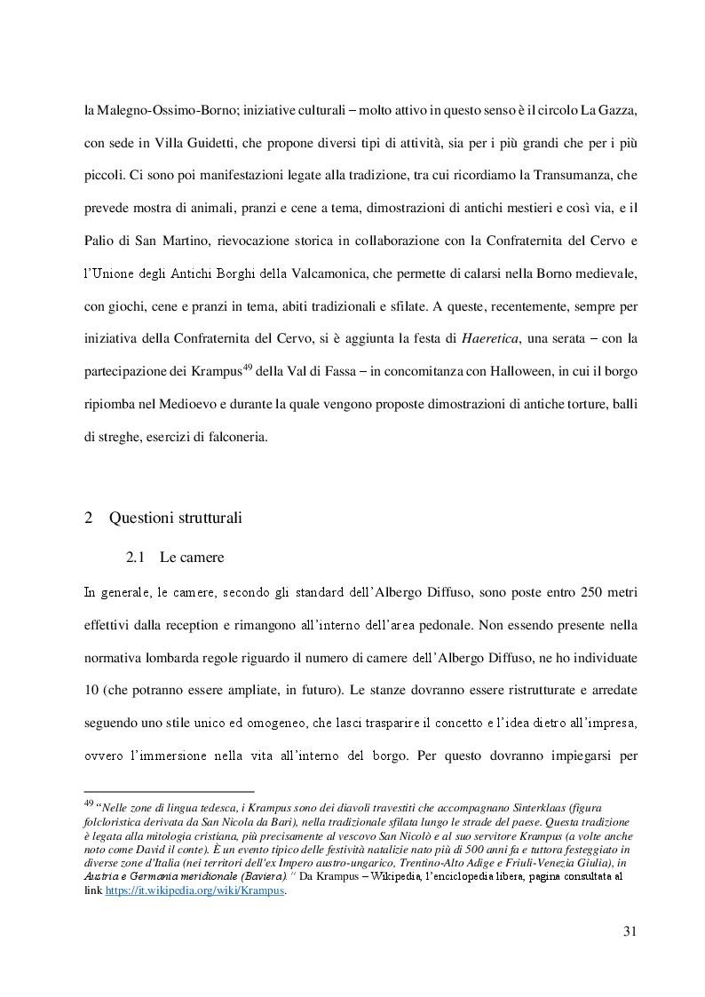 Anteprima della tesi: L'albergo diffuso e una specifica esperienza: la proposta di Borno, Pagina 5