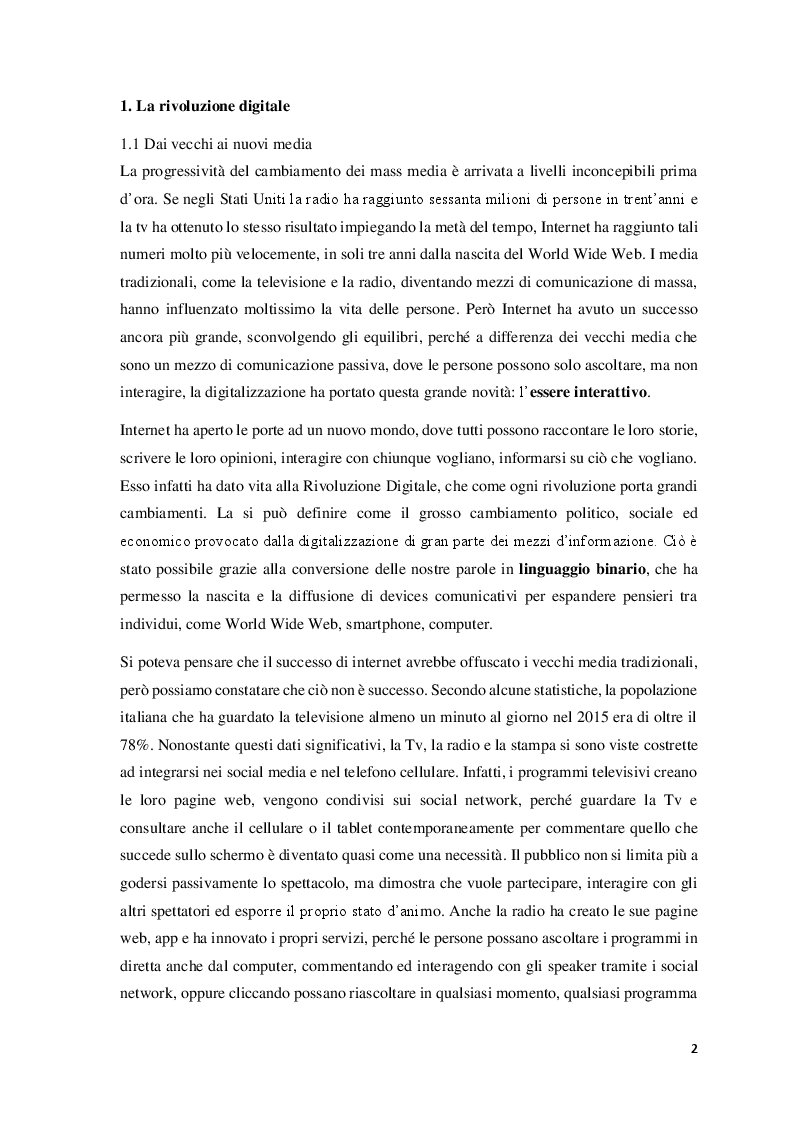 Anteprima della tesi: Data Mining per le Scienze Politiche: l'uso di Twitter, Pagina 3