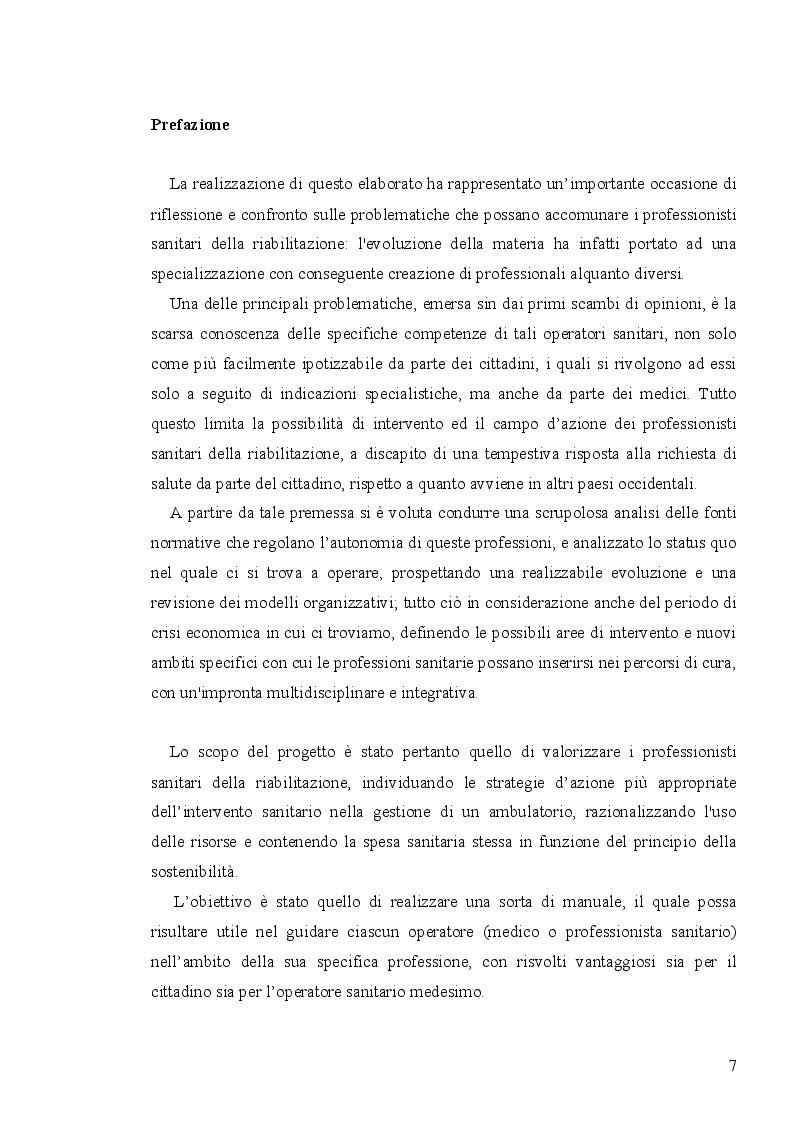 Anteprima della tesi: Analisi economico-organizzativa nella gestione di un ambulatorio di ortottica, Pagina 2