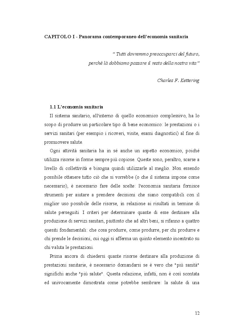 Anteprima della tesi: Analisi economico-organizzativa nella gestione di un ambulatorio di ortottica, Pagina 7