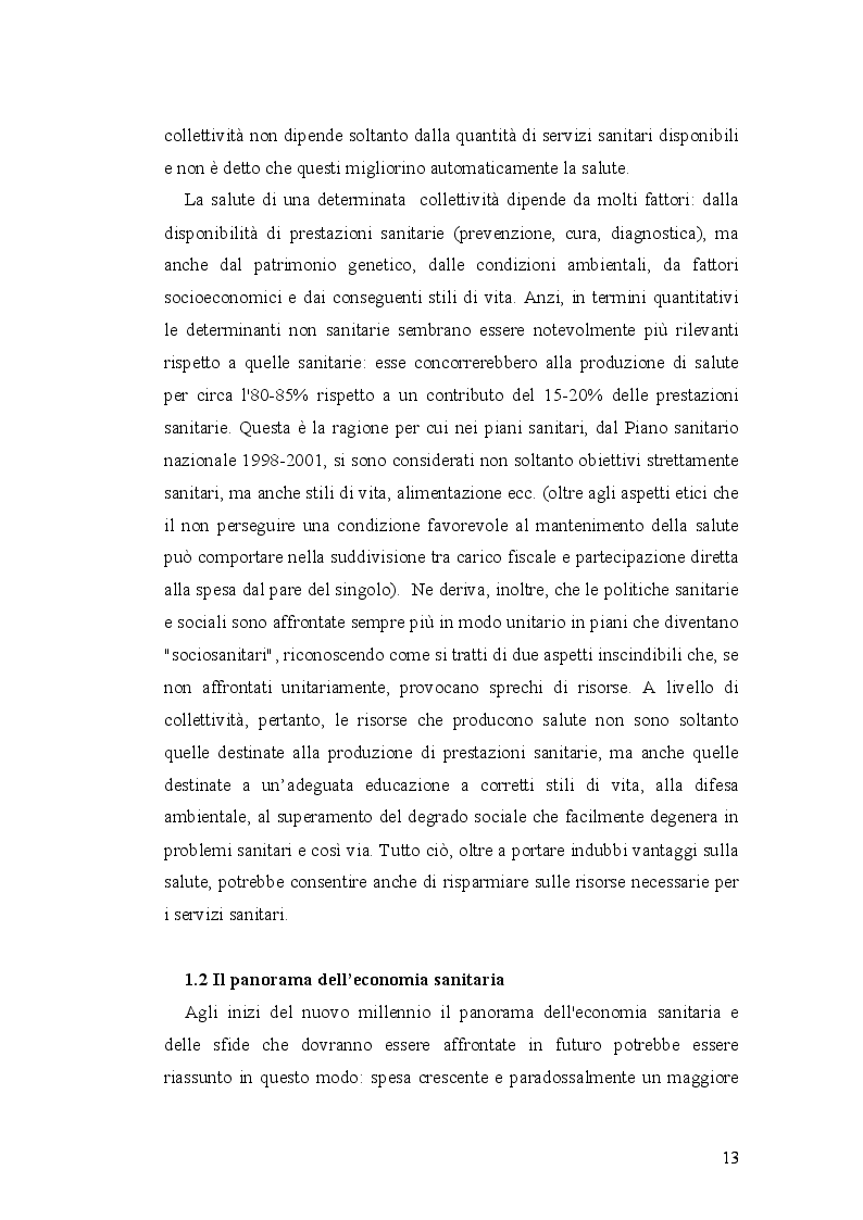 Anteprima della tesi: Analisi economico-organizzativa nella gestione di un ambulatorio di ortottica, Pagina 8