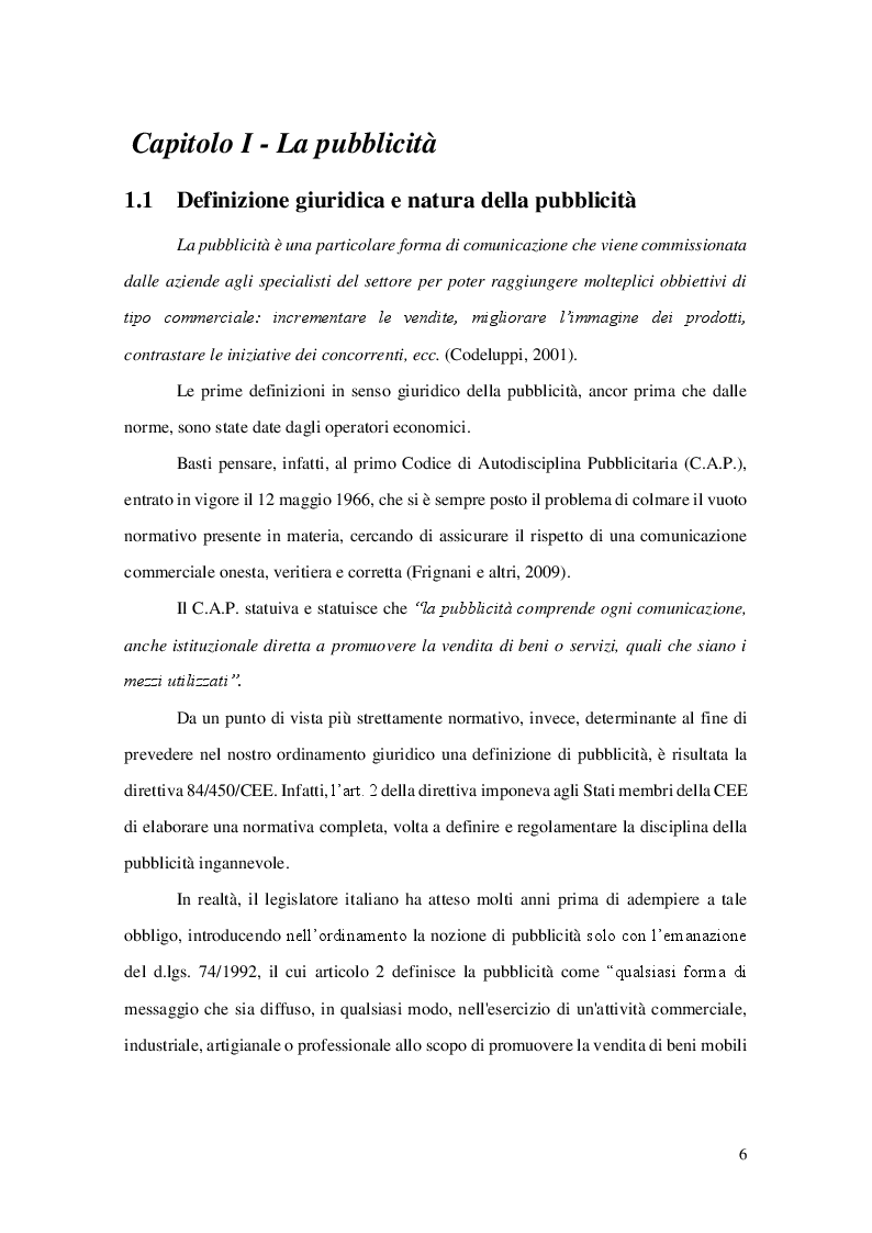 Anteprima della tesi: La pubblicità comparativa, Pagina 3