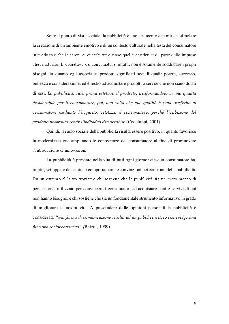 Anteprima della tesi: La pubblicità comparativa, Pagina 6