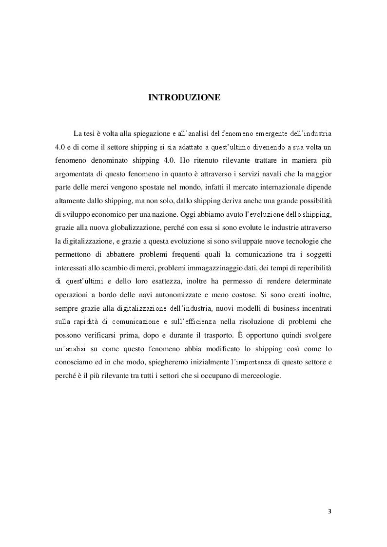 Anteprima della tesi: Lo shipping nell'era dell'industria 4.0: innovazioni e tendenze, Pagina 2