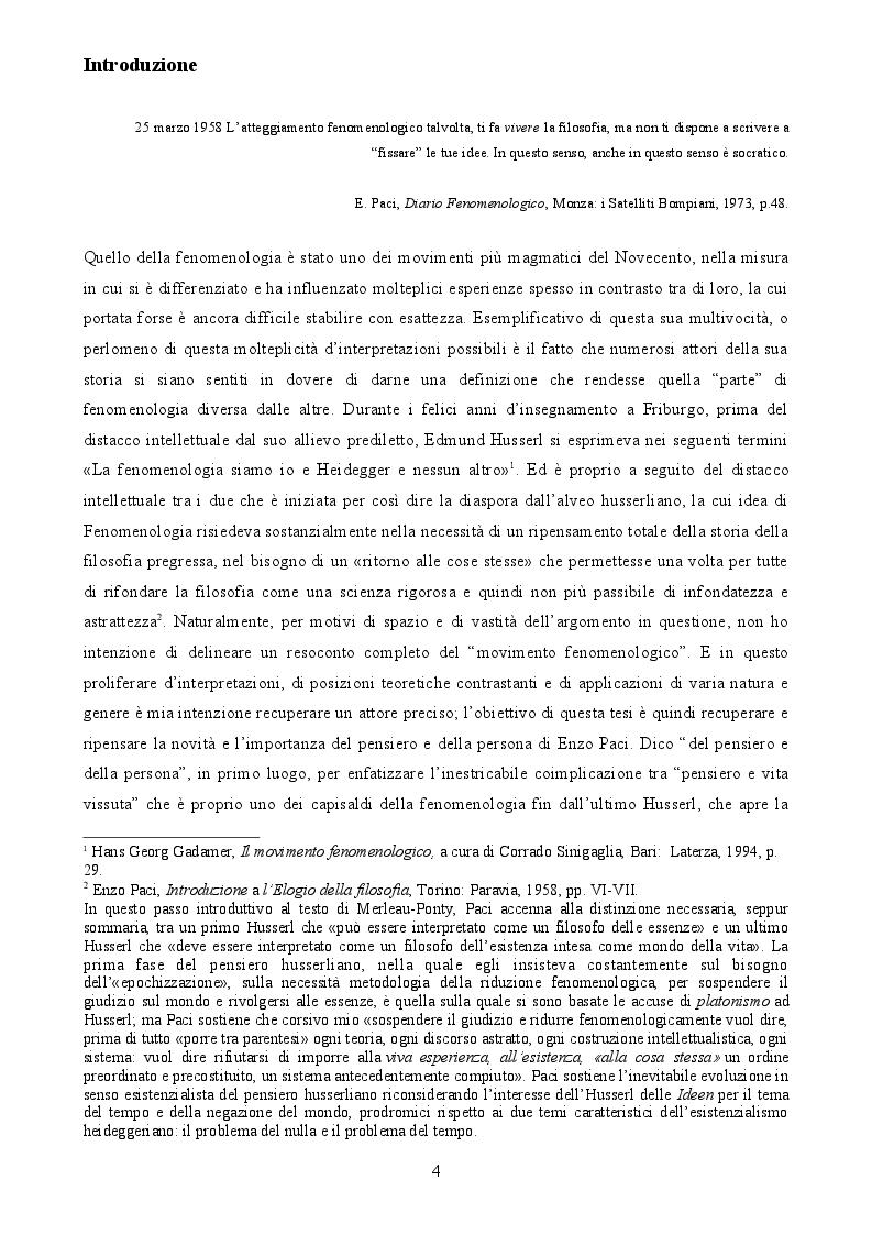 Anteprima della tesi: Enzo Paci e la Fenomenologia relazionistica: la risposta positiva alla krisis, Pagina 2