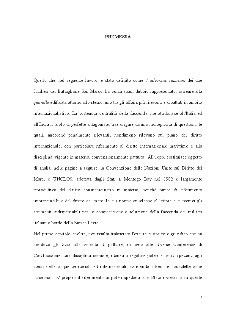 Anteprima della tesi: Il caso Marò ed il Diritto Internazionale del mare, Pagina 2