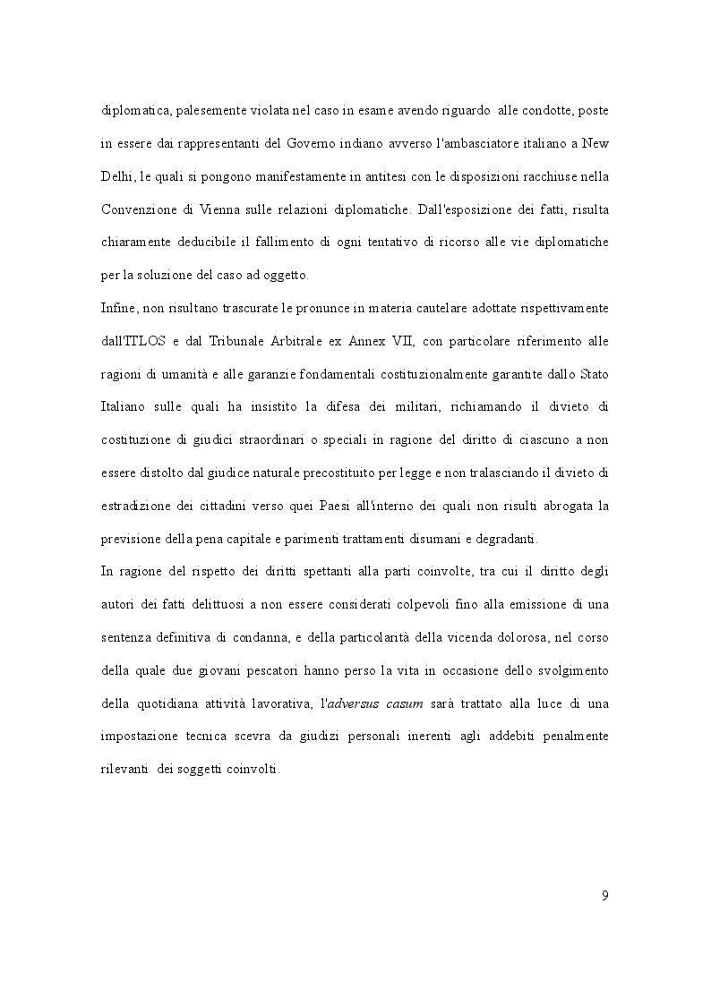 Anteprima della tesi: Il caso Marò ed il Diritto Internazionale del mare, Pagina 4