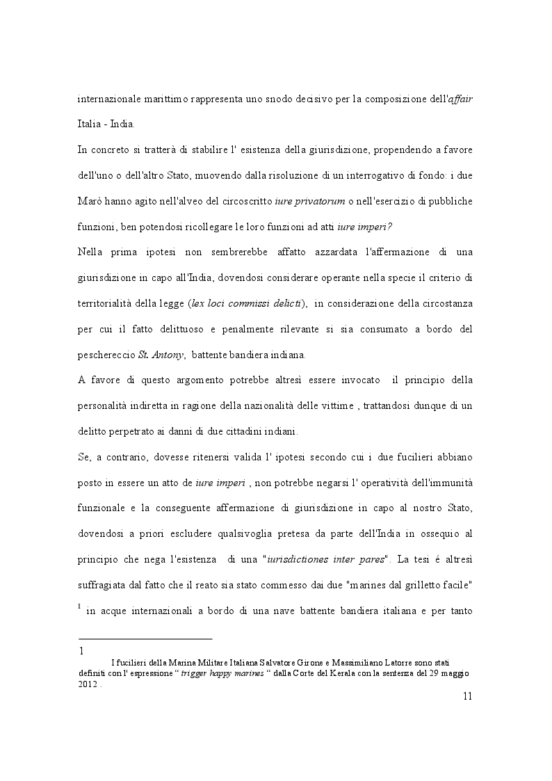 Anteprima della tesi: Il caso Marò ed il Diritto Internazionale del mare, Pagina 6