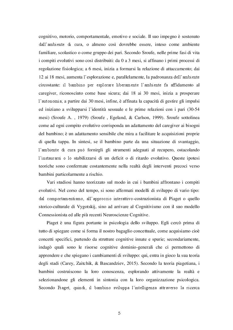 Anteprima della tesi: Una valutazione globale dello sviluppo personale, sociale ed emotivo dei bambini prematuri attraverso le Scale Griffiths III, Pagina 6