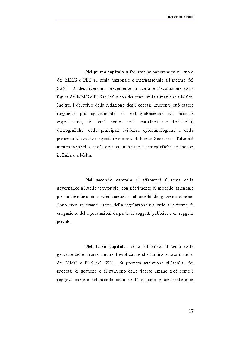 Anteprima della tesi: Il ruolo dei medici di medicina generale e pediatri di libera scelta nel sistema sanitario italiano e nel servizio sanitario maltese. Modelli organizzativi e profili evolutivi., Pagina 10