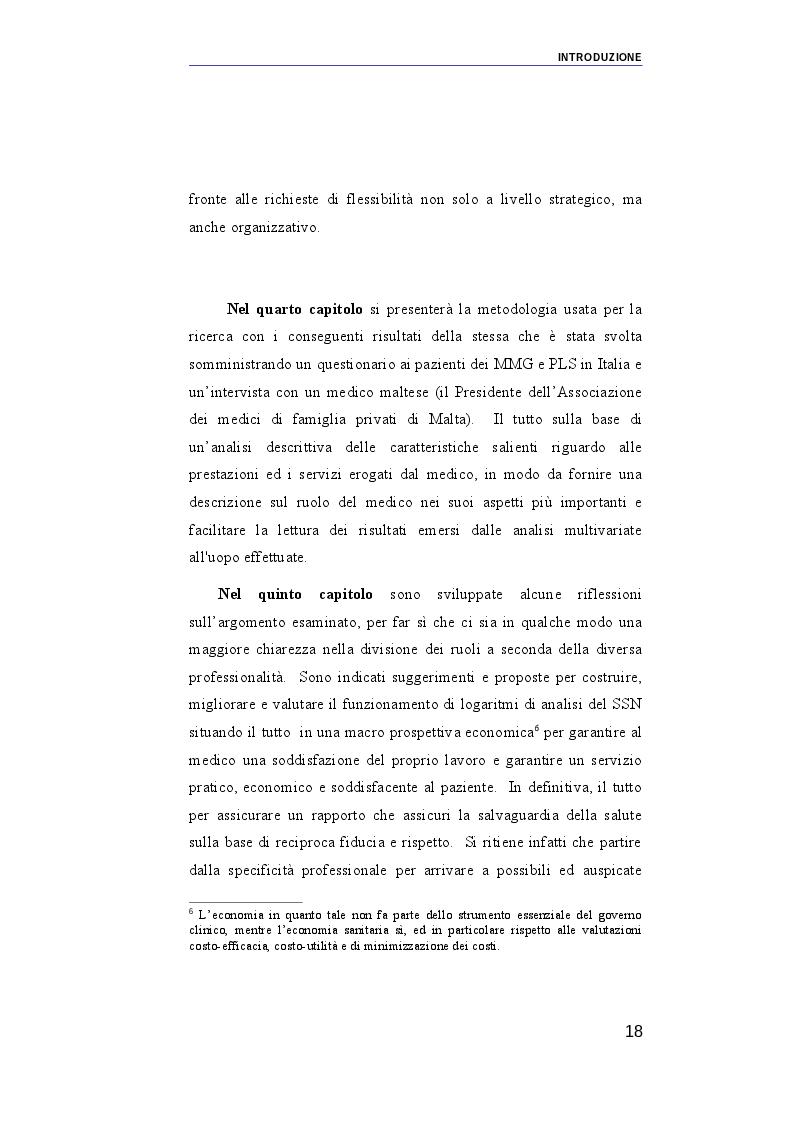 Anteprima della tesi: Il ruolo dei medici di medicina generale e pediatri di libera scelta nel sistema sanitario italiano e nel servizio sanitario maltese. Modelli organizzativi e profili evolutivi., Pagina 11