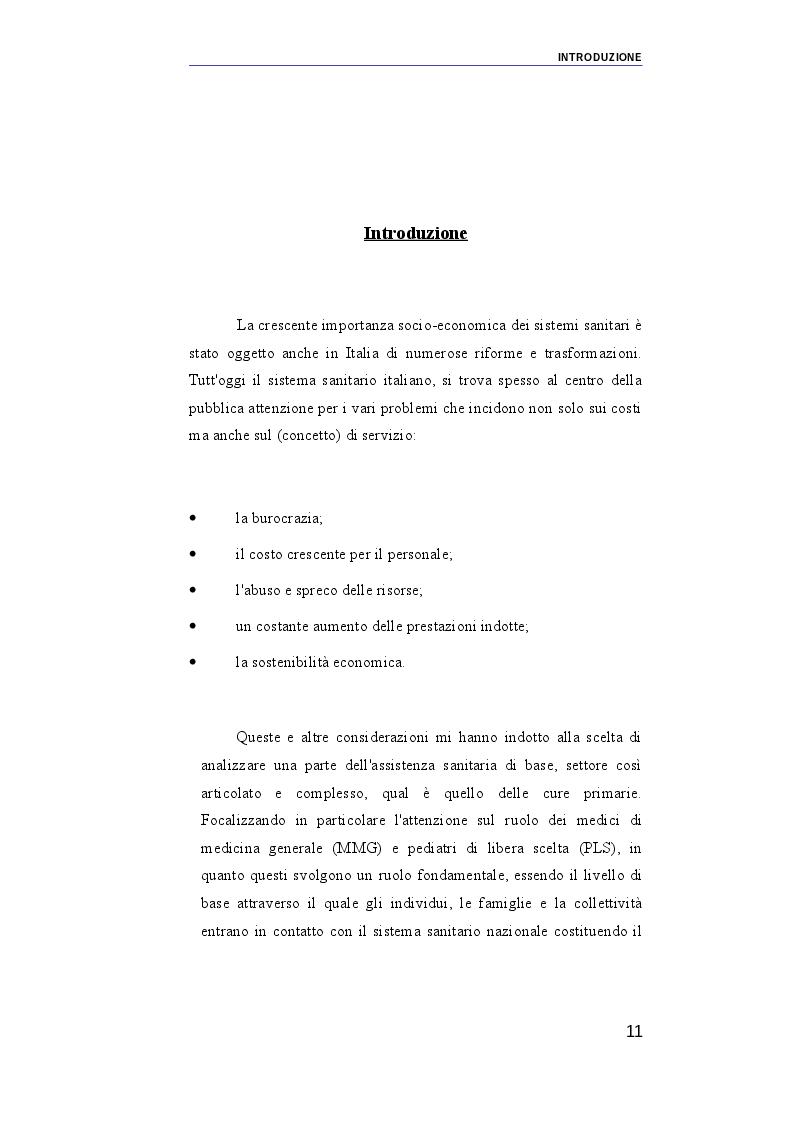 Anteprima della tesi: Il ruolo dei medici di medicina generale e pediatri di libera scelta nel sistema sanitario italiano e nel servizio sanitario maltese. Modelli organizzativi e profili evolutivi., Pagina 4