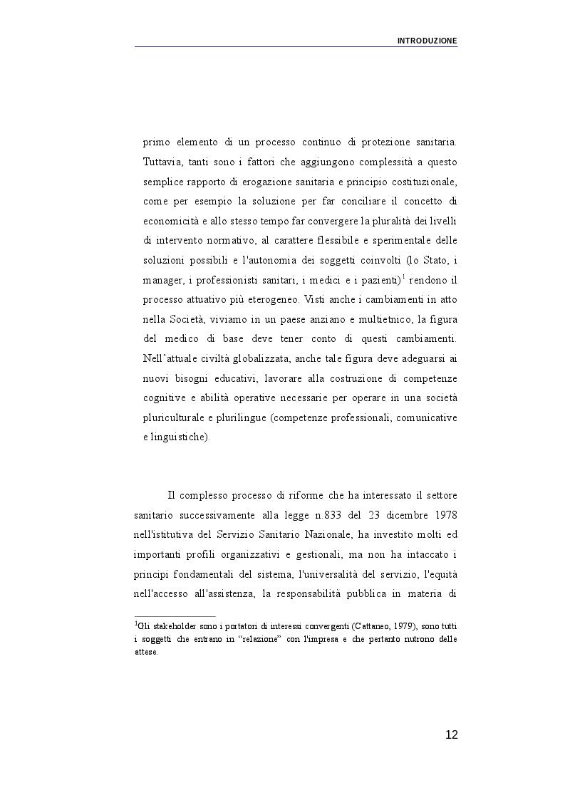 Anteprima della tesi: Il ruolo dei medici di medicina generale e pediatri di libera scelta nel sistema sanitario italiano e nel servizio sanitario maltese. Modelli organizzativi e profili evolutivi., Pagina 5