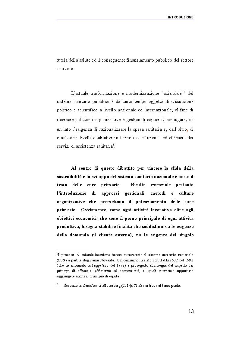 Anteprima della tesi: Il ruolo dei medici di medicina generale e pediatri di libera scelta nel sistema sanitario italiano e nel servizio sanitario maltese. Modelli organizzativi e profili evolutivi., Pagina 6