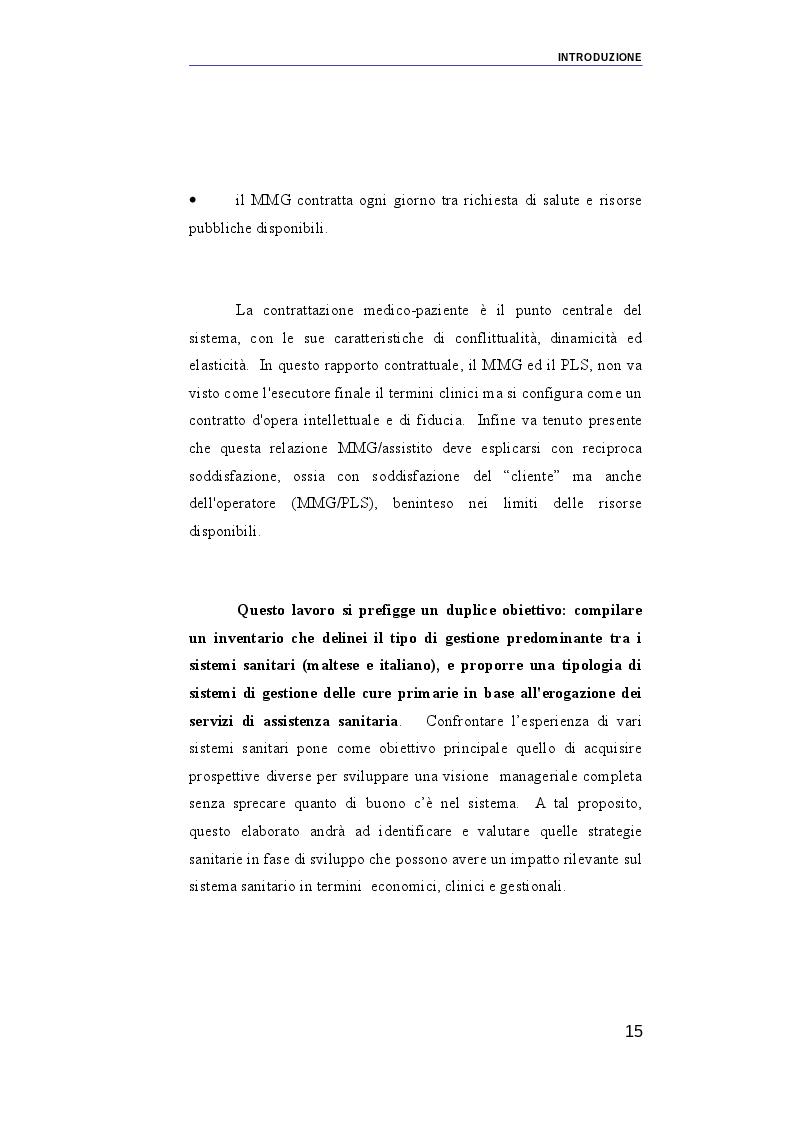 Anteprima della tesi: Il ruolo dei medici di medicina generale e pediatri di libera scelta nel sistema sanitario italiano e nel servizio sanitario maltese. Modelli organizzativi e profili evolutivi., Pagina 8