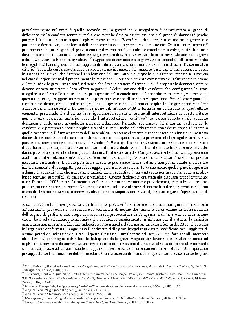 Estratto dalla tesi: Il provvedimento cautelare di revoca dell'amministratore nella s.r.l. e il controllo giudiziario