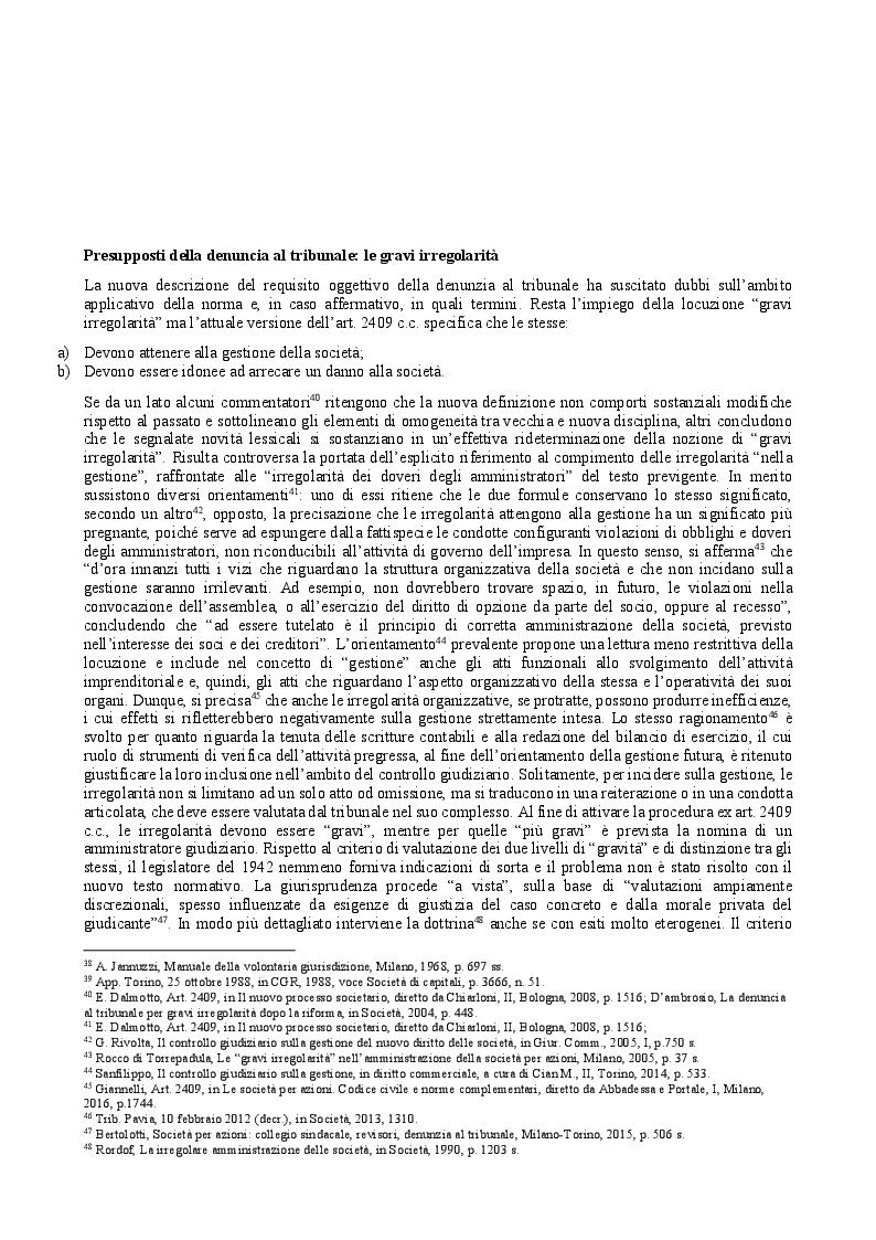 Anteprima della tesi: Il provvedimento cautelare di revoca dell'amministratore nella s.r.l. e il controllo giudiziario, Pagina 2