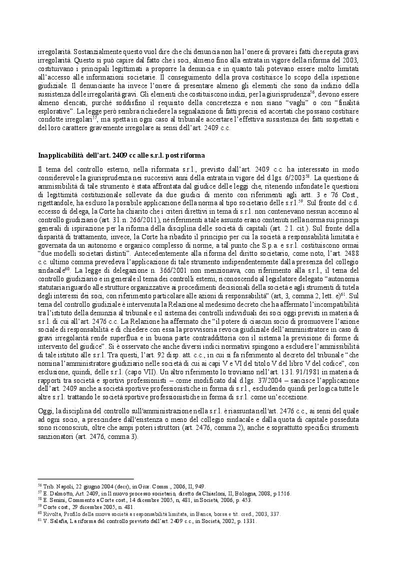 Anteprima della tesi: Il provvedimento cautelare di revoca dell'amministratore nella s.r.l. e il controllo giudiziario, Pagina 4