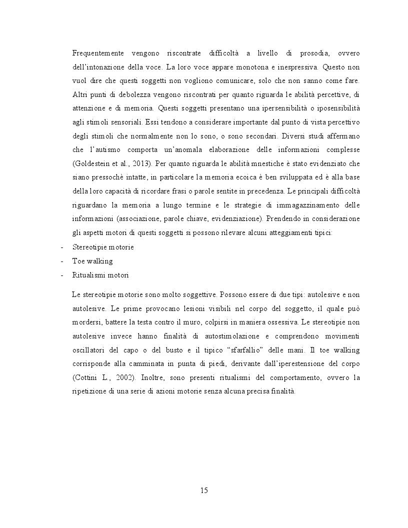 Estratto dalla tesi: Il ruolo dell'attività fisica nel miglioramento delle abilità sociali nei soggetti autistici