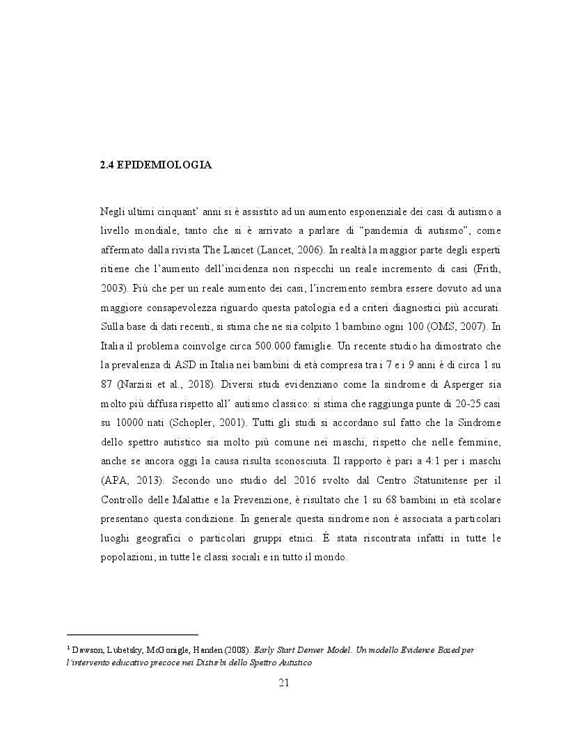 Anteprima della tesi: Il ruolo dell'attività fisica nel miglioramento delle abilità sociali nei soggetti autistici, Pagina 2