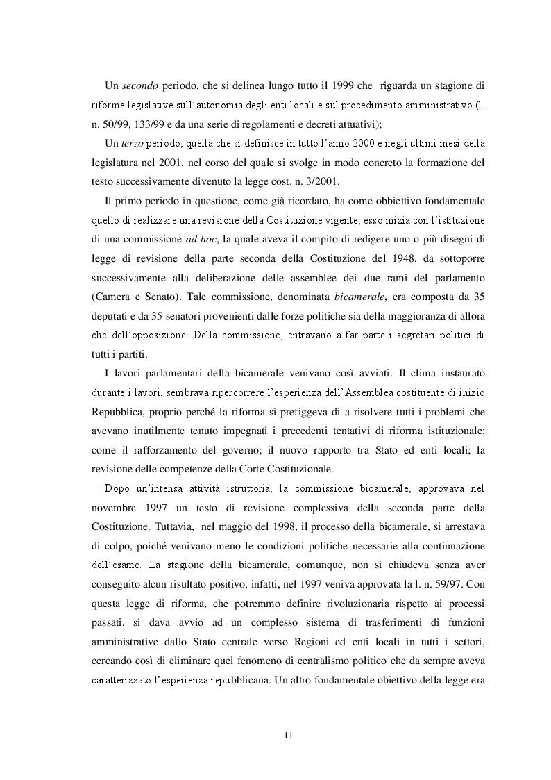 Anteprima della tesi: L'autonomia finanziaria degli Enti Locali alla luce della riforma del titolo V della Costituzione, Pagina 8