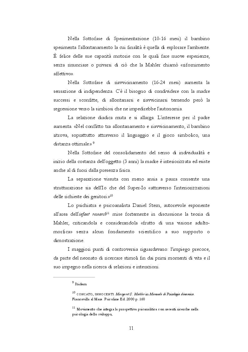 Anteprima della tesi: Teoria dell'attaccamento: nascita e spiegazione del disagio psichico, Pagina 10