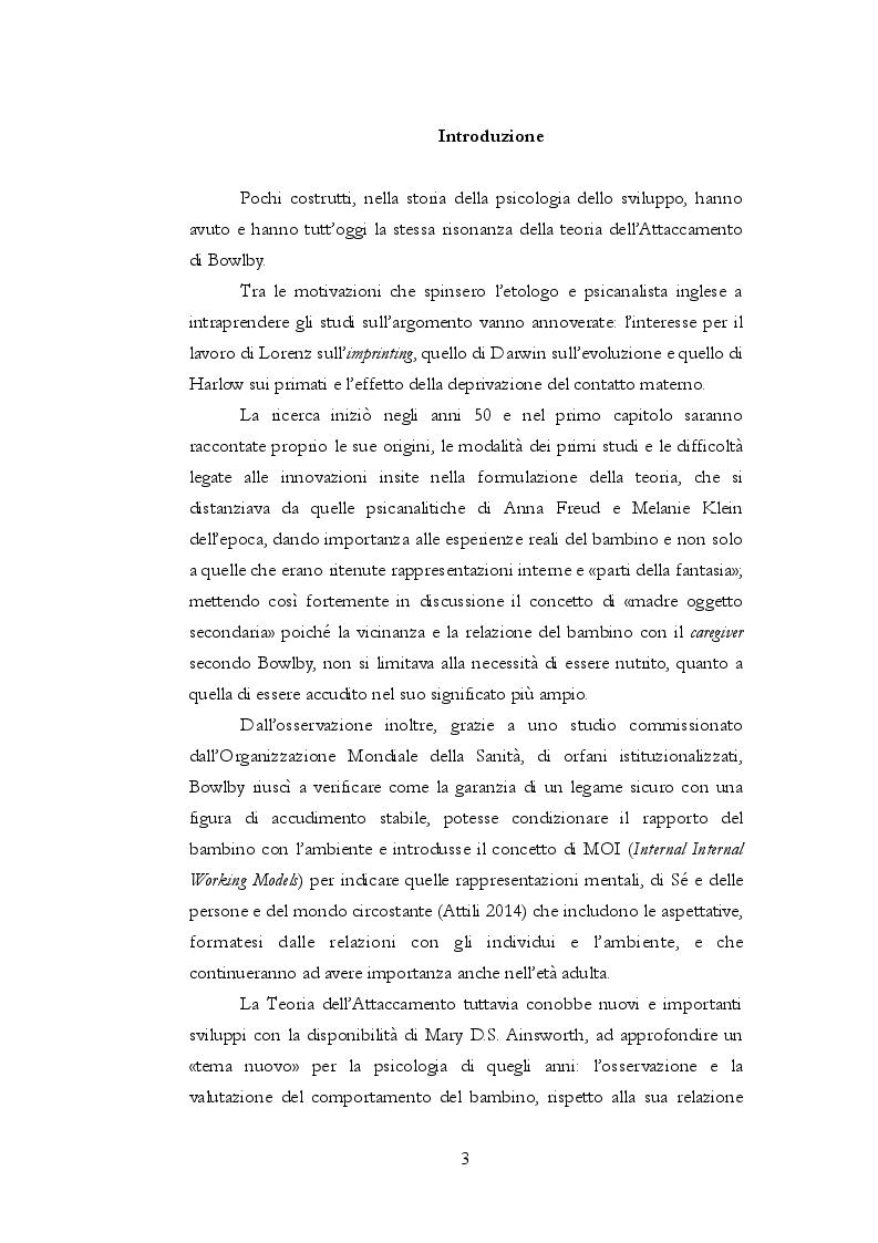 Anteprima della tesi: Teoria dell'attaccamento: nascita e spiegazione del disagio psichico, Pagina 2