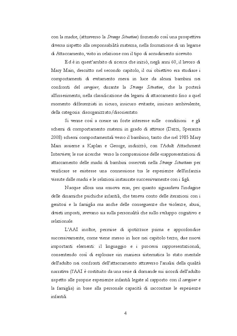 Anteprima della tesi: Teoria dell'attaccamento: nascita e spiegazione del disagio psichico, Pagina 3