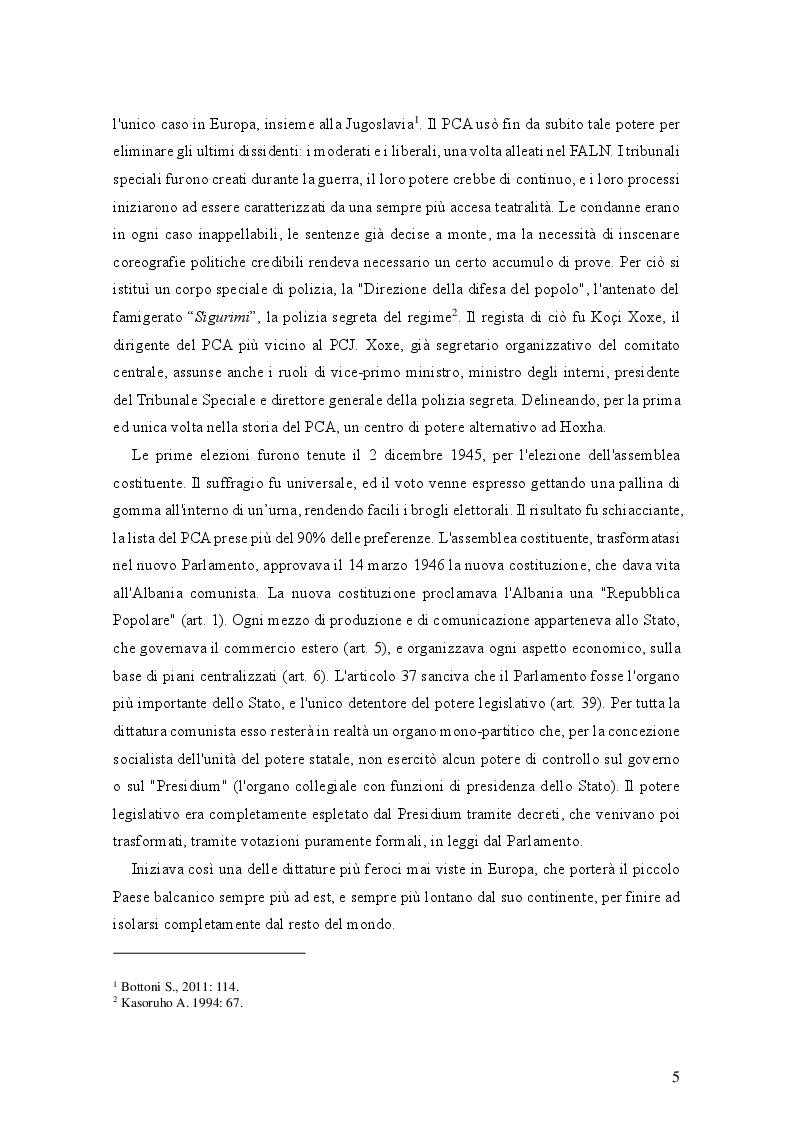 Estratto dalla tesi: Il processo d'integrazione europea dell'Albania