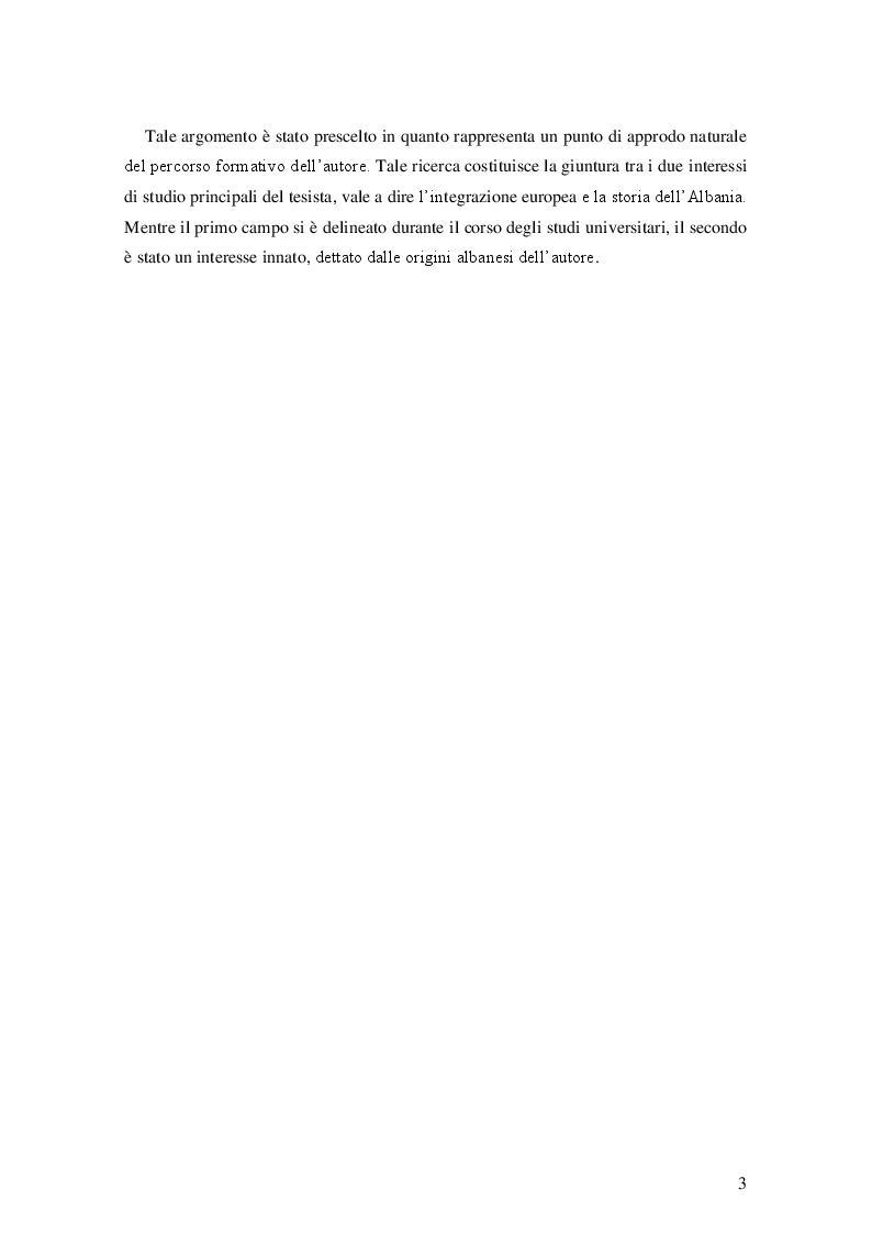 Anteprima della tesi: Il processo d'integrazione europea dell'Albania, Pagina 4
