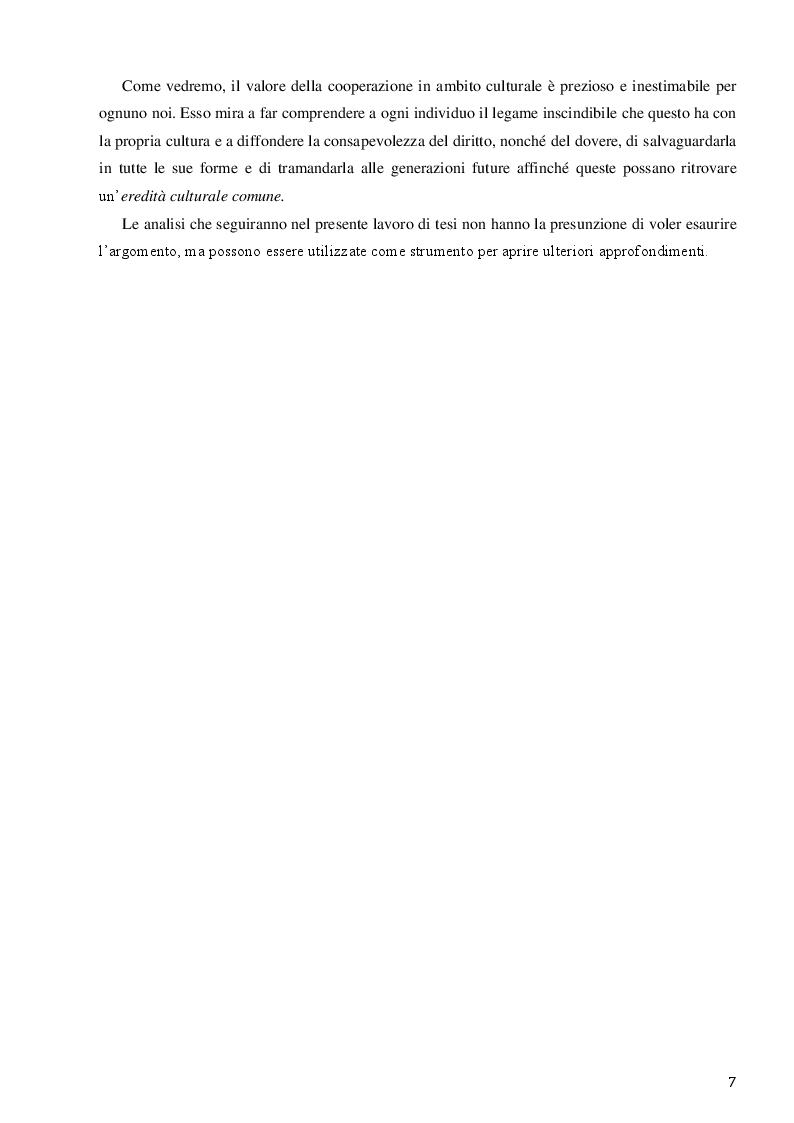 Anteprima della tesi: La Santa Sede e le relazioni con le Organizzazioni Internazionali per la cooperazione culturale, Pagina 5
