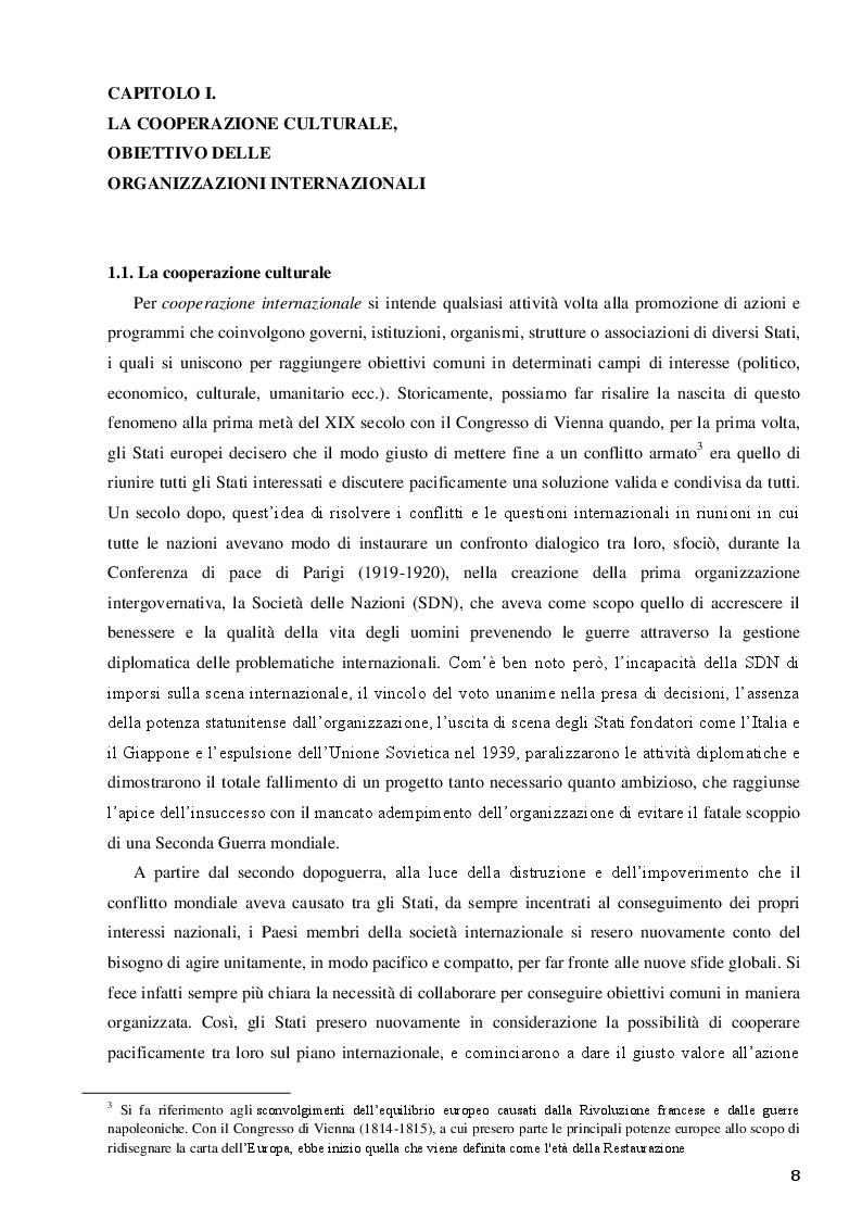Anteprima della tesi: La Santa Sede e le relazioni con le Organizzazioni Internazionali per la cooperazione culturale, Pagina 6