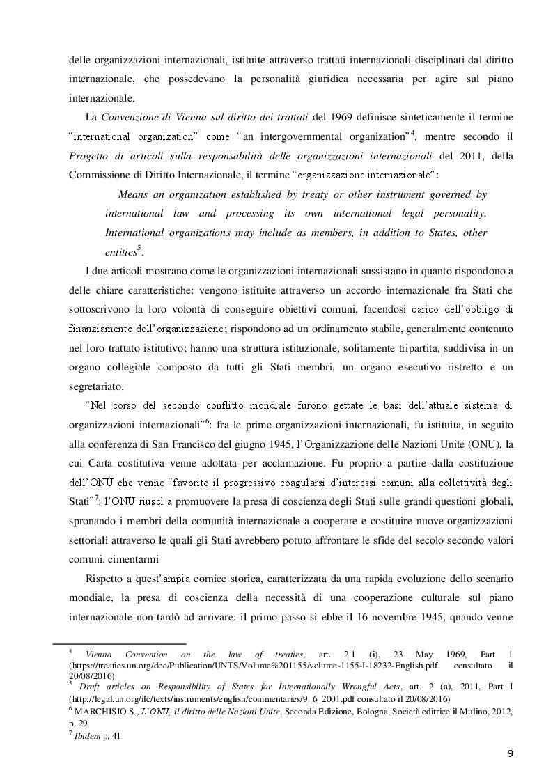 Anteprima della tesi: La Santa Sede e le relazioni con le Organizzazioni Internazionali per la cooperazione culturale, Pagina 7