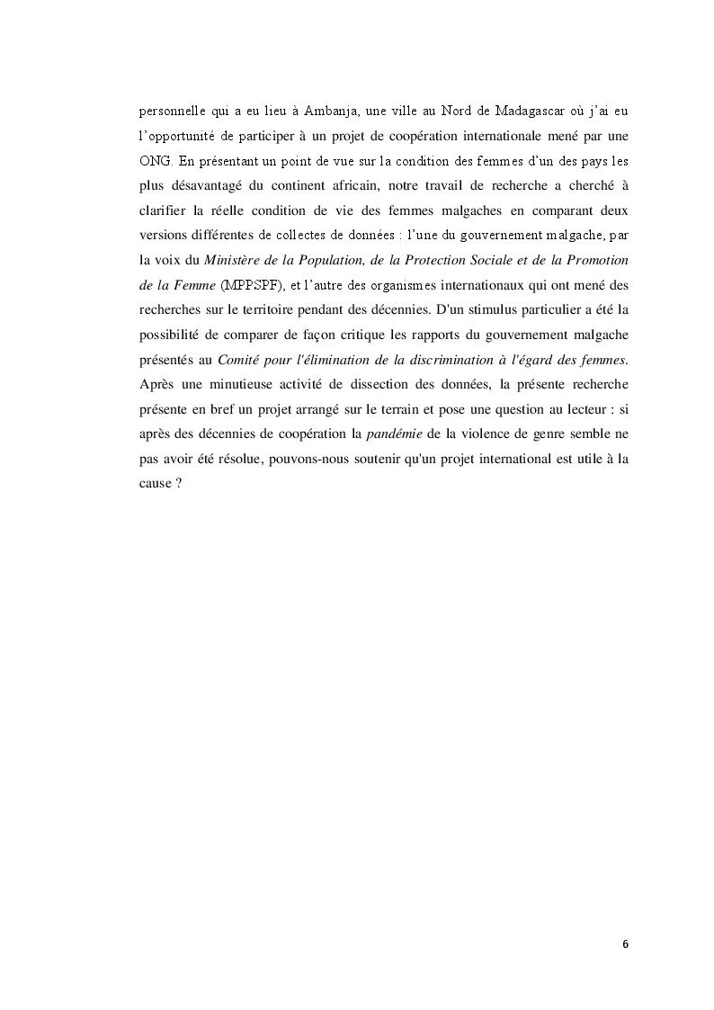 Anteprima della tesi: La frontière des catégories vulnérables: promouvoir les droits, l'agentivation et le renforcement des capacités pour favoriser la croissance sociale inclusive, Pagina 5