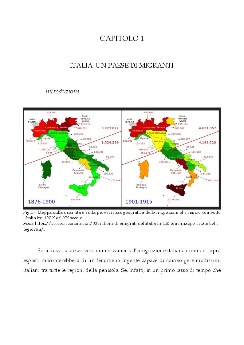 Anteprima della tesi: L'Italia, terra di migrazione: dalle emigrazioni del Novecento alle migrazioni di costa del presente. L'esempio del Centro di Prima Accoglienza ''Cpa Maratona'' di Cibali a Catania, Pagina 6