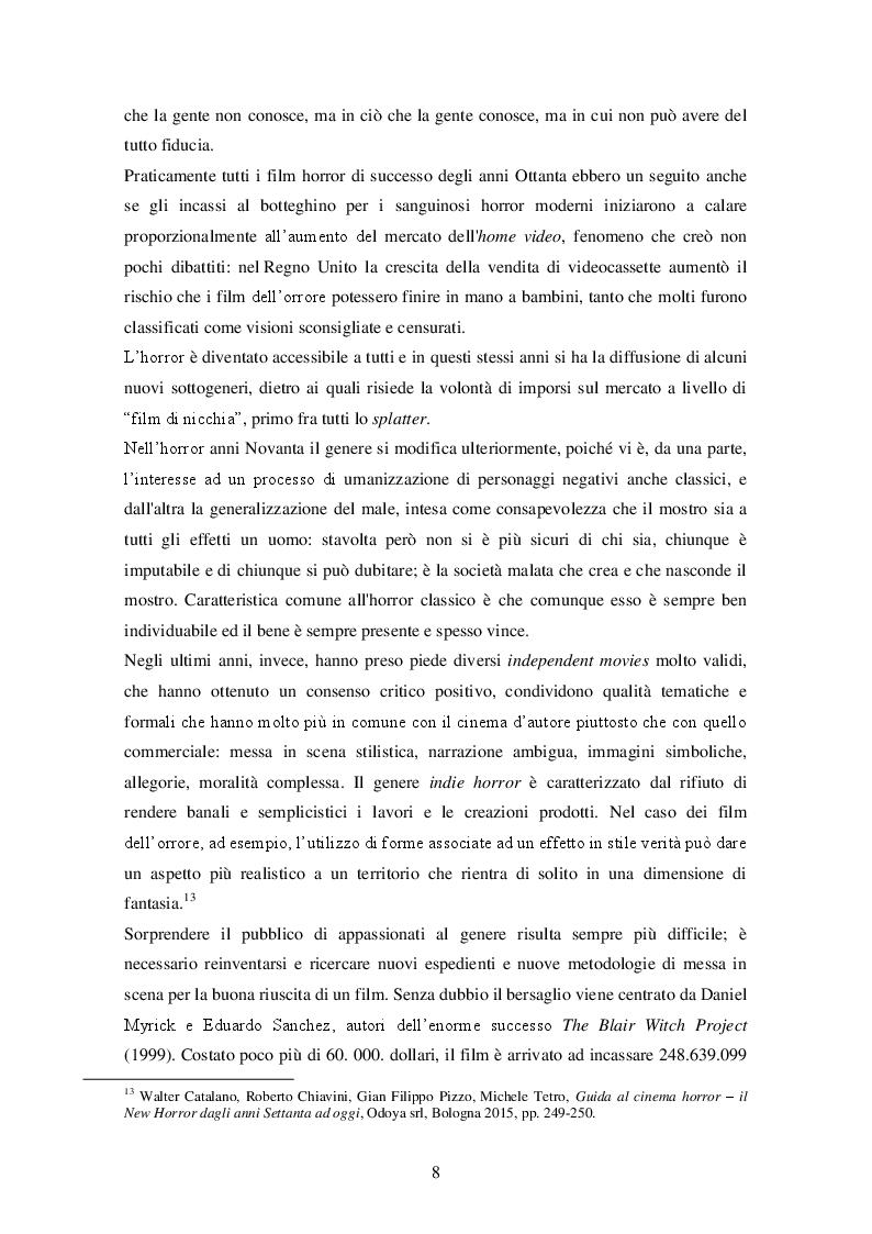 """Estratto dalla tesi: """"It follows"""" (David R. Mitchell, 2014) ANALISI DI UN INDIE HORROR"""