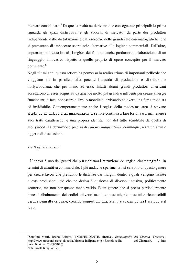 """Anteprima della tesi: """"It follows"""" (David R. Mitchell, 2014) ANALISI DI UN INDIE HORROR, Pagina 7"""