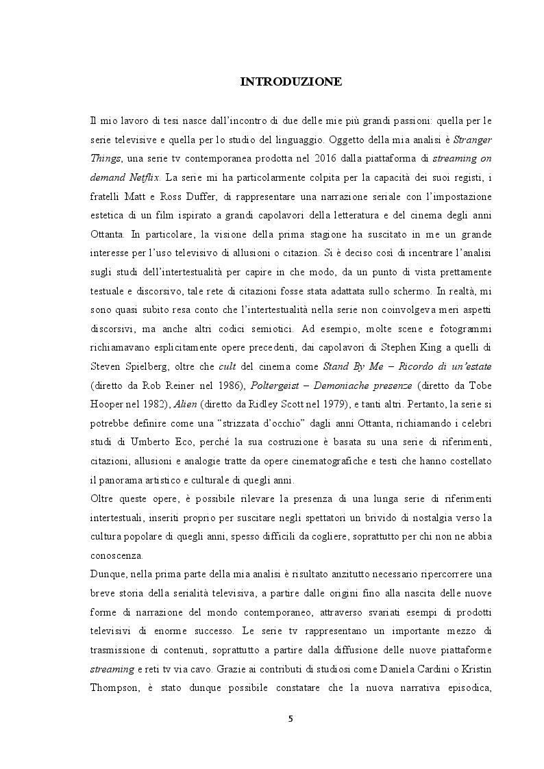 Anteprima della tesi: Tradurre l'intertestualità per il piccolo schermo: il caso Stranger Things, Pagina 2
