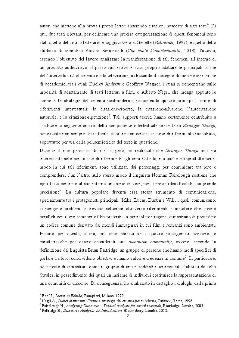 Anteprima della tesi: Tradurre l'intertestualità per il piccolo schermo: il caso Stranger Things, Pagina 4