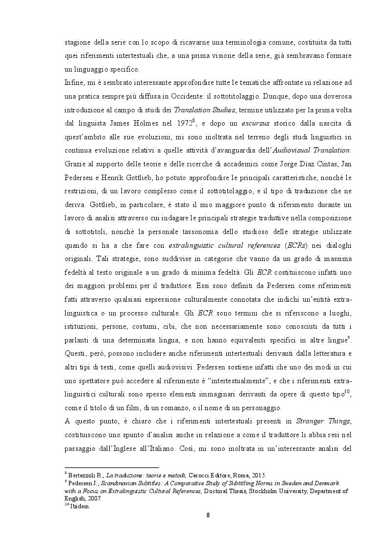 Anteprima della tesi: Tradurre l'intertestualità per il piccolo schermo: il caso Stranger Things, Pagina 5