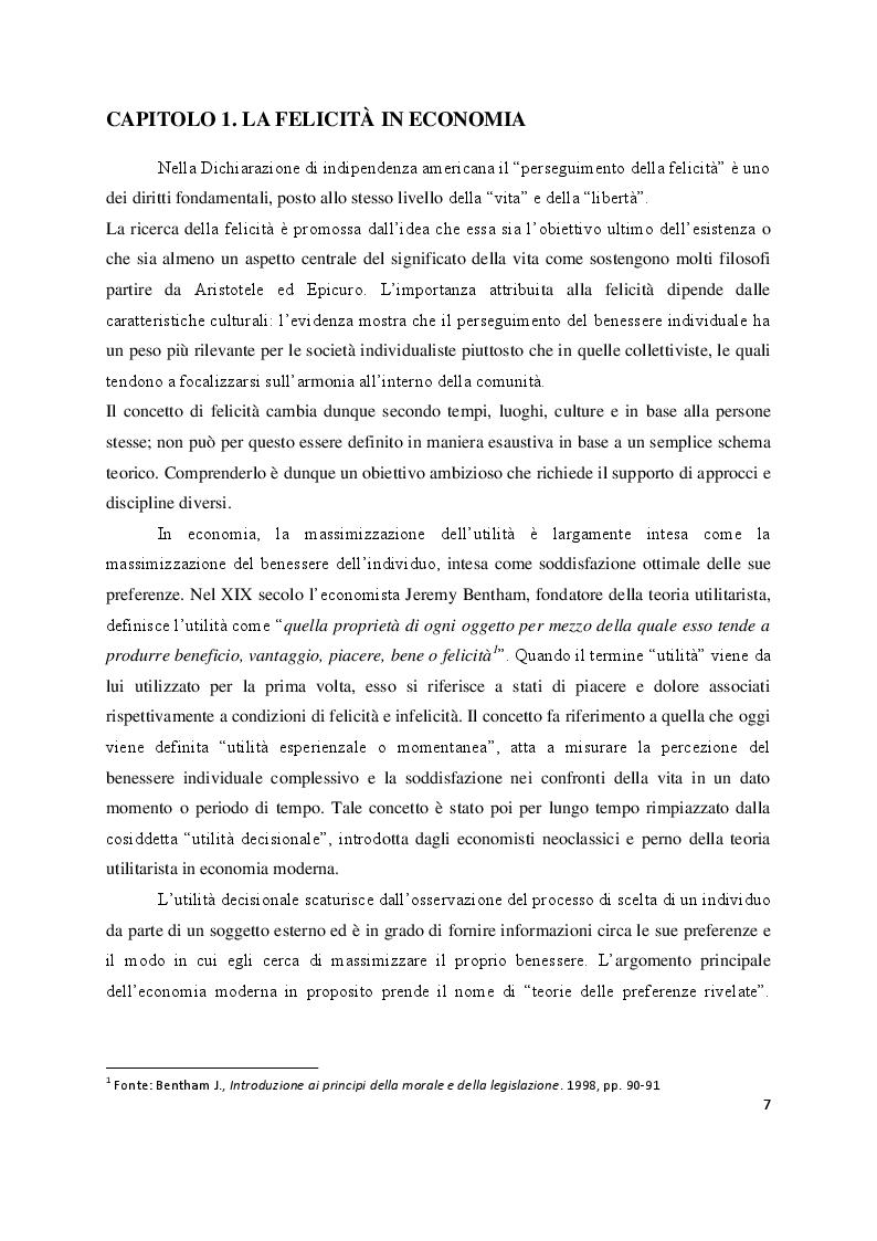 Anteprima della tesi: Economia e felicità: evidenze e paradossi delle società occidentali, Pagina 4