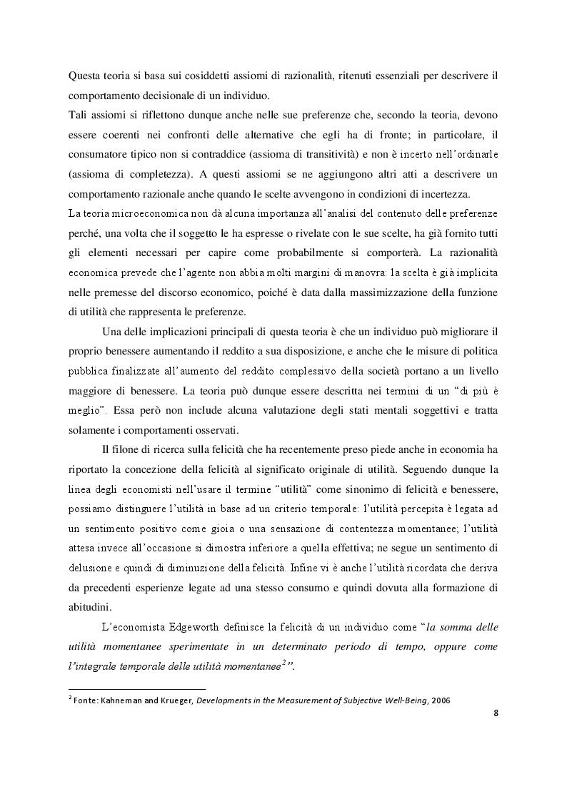 Anteprima della tesi: Economia e felicità: evidenze e paradossi delle società occidentali, Pagina 5