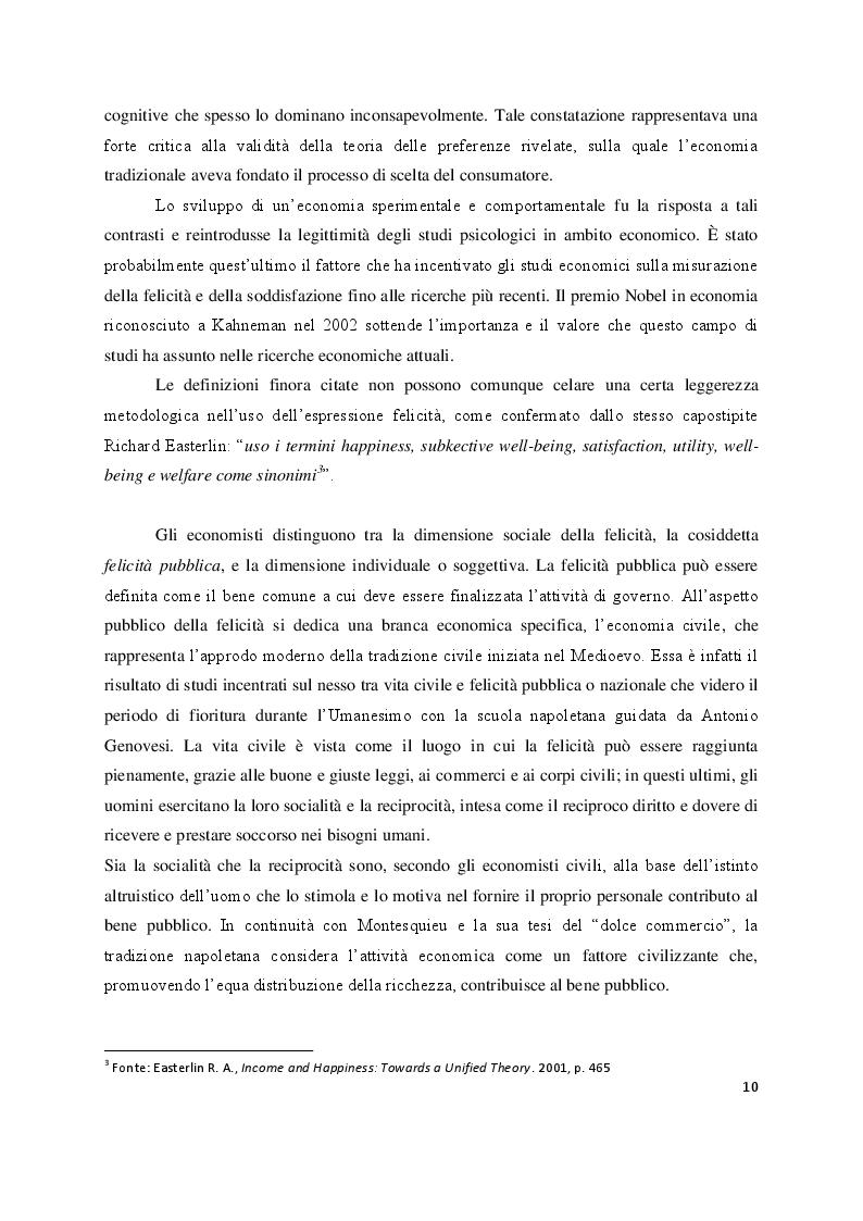 Anteprima della tesi: Economia e felicità: evidenze e paradossi delle società occidentali, Pagina 7
