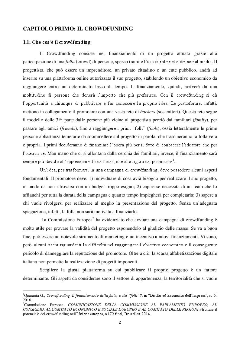 Anteprima della tesi: Equity crowdfunding: il caso Mamacrowd, Pagina 3